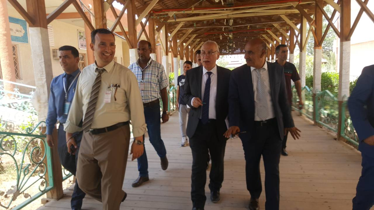 زيارة السيد مستشار وزير التعليم العالي والبحث العلمي الاستاذ الدكتور (محمد الربيعي)