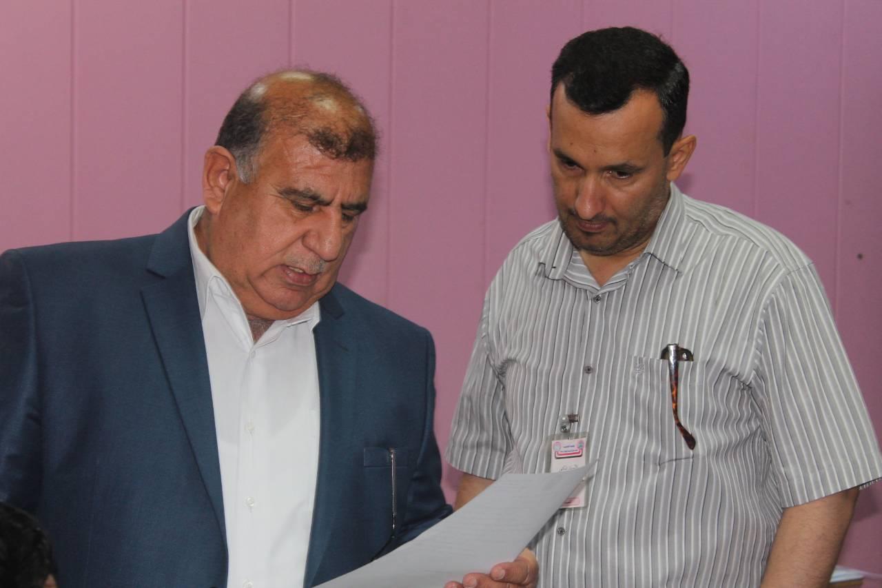 زيارة السيد رئيس الجامعة وكالة الاستاذ الدكتور عادل تركي حسن