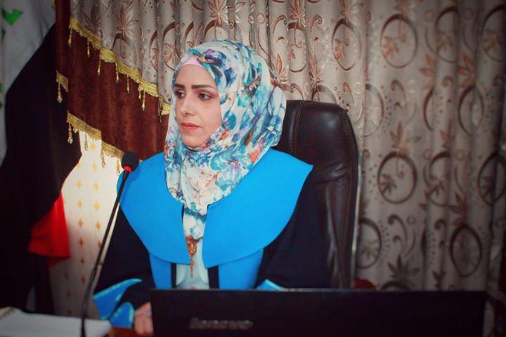 مناقشة اطروحة الدكتوراه للطالبة افراح رحمن كاظم