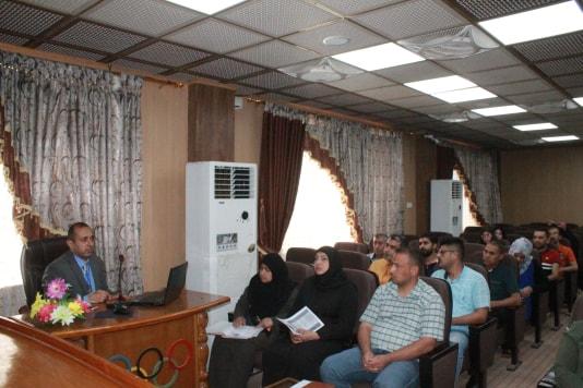 كلية التربية البدنية وعلوم الرياضة تستضيف ورشة عمل (للبرنامج الالكتروني الوزاري الخاص بنقل الطلبة بين الجامعات العراقية