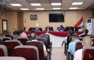 معاون العميد للشؤون العلمية يعقد اجتماع لتحديد عناوين الاطاريح لطلبة الدكتوراه