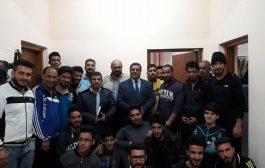 السيد عميد كلية الطب البيطري / جامعة القادسية يتفقد الأقسام الداخلية لطلبة الكلية