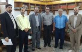 Visit of the delegation of the Faculty of Veterinary Medicine, University of al-Qadisiyah to the threshold of the Holy Assumption