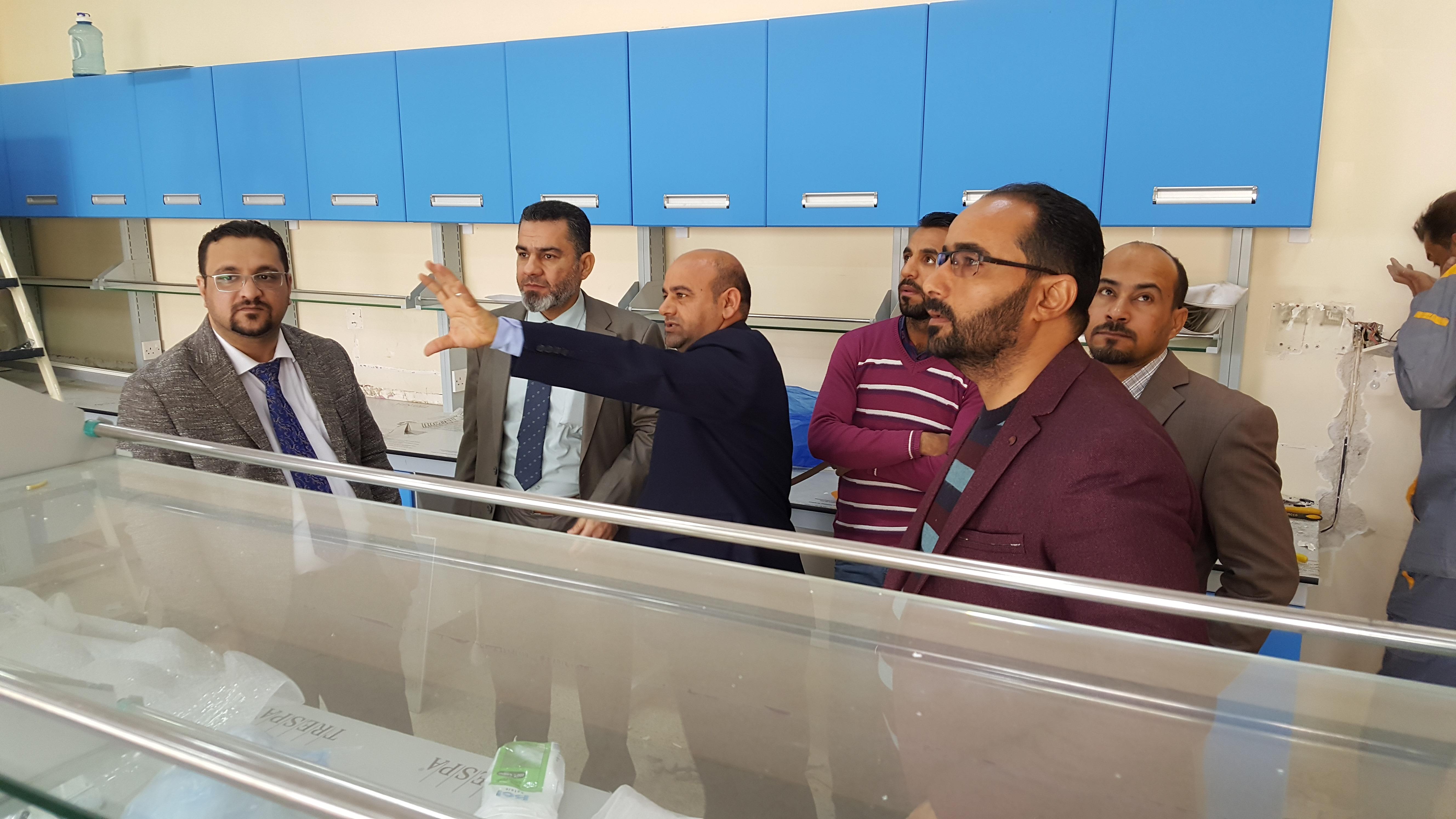 لجنة تقييم مختبرات كلية الطب البيطري
