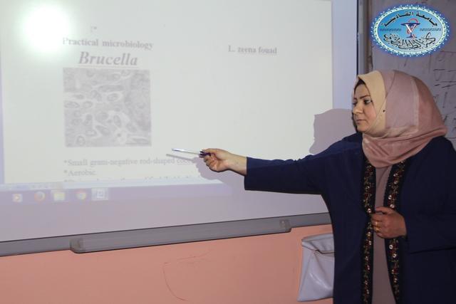 كلية الطب البيطري /جامعة القادسية تقيم دورة تدريبية بعنوان (طرق الزرع البكتيري للبكتيريا الهوائية واللاهوائية )