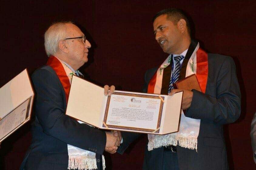 وزارة التعليم العالي والبحث العلمي تكرم الدكتور رحيم الحمزاوي بجائزة يوم العلم العراقي لعام 2017