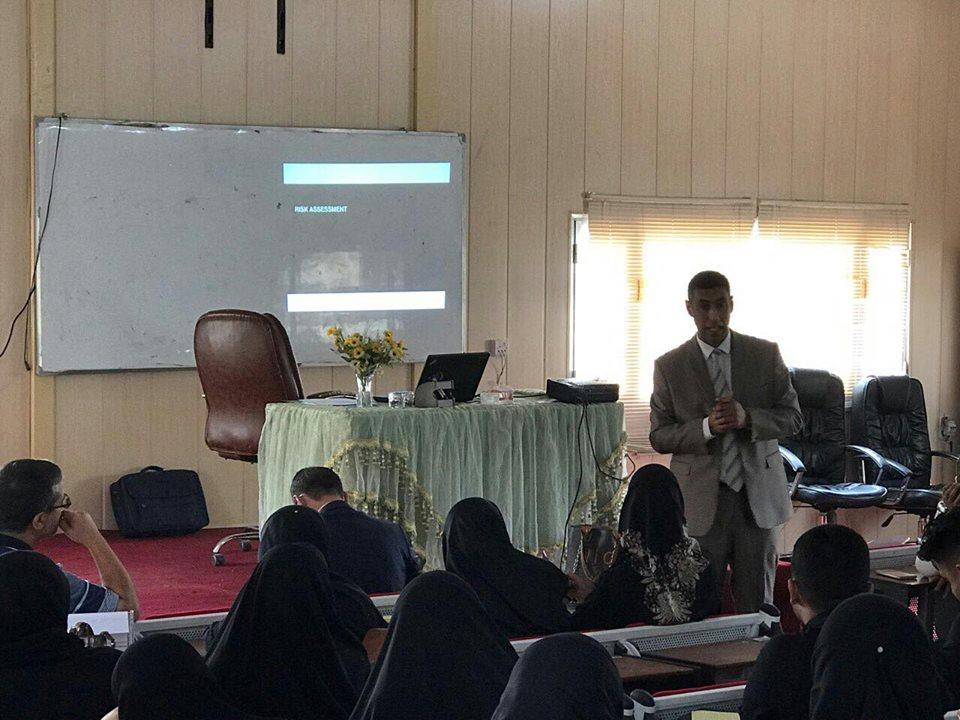 تدريسي في جامعة القادسية يحصل على شهادة تدريب من وكالة السلامة والامن الحيوية الدولية في مجال ادارة المخاطر البايولوجية