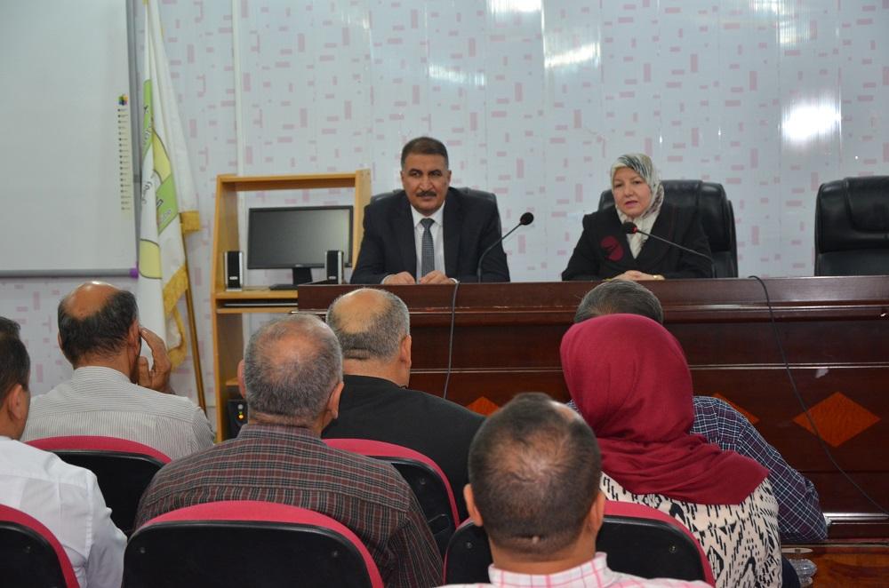 ضمن لقاءاتها الدورية رئيس جامعة القادسية تلتقي بأساتذة كلية الطب للارتقاء بواقعها العلمي الرصين