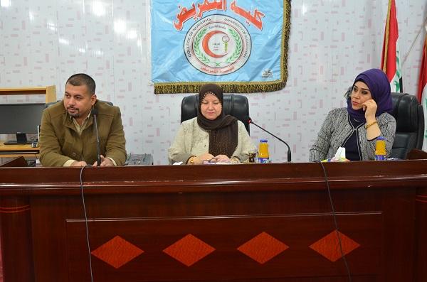 رئيس جامعة القادسية يلتقي بأساتذة كلية التمريض ويدعو للعمل بروح الفريق الواحد