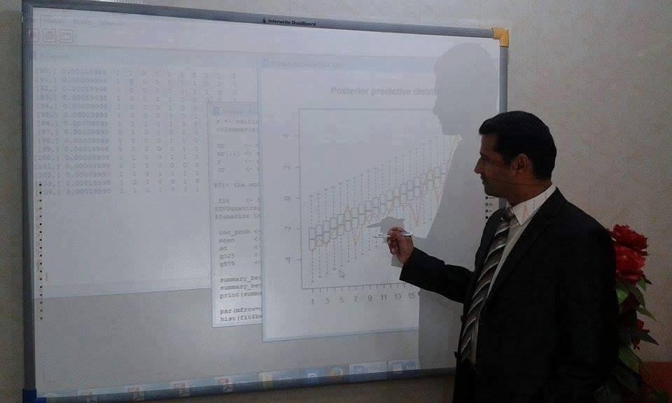 تدريسي في جامعة القادسية ينشر بحثا علميا عن الانحدار البيزي القسيمي للبيانات المقيدة من الاسفل في احدى المجلات العالمية