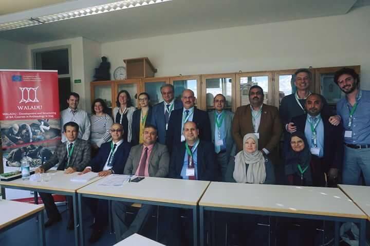 حضور اجتماعات مشروع ولادو  Waladu  المدعوم من الاتحاد الأوربي لتطوير كليات وأقسام الآثار في العراق