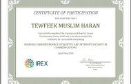 عقد شراكة شعبة التأهيل والتوظيف والمتابعة مع مؤسسة أيركس الدولية