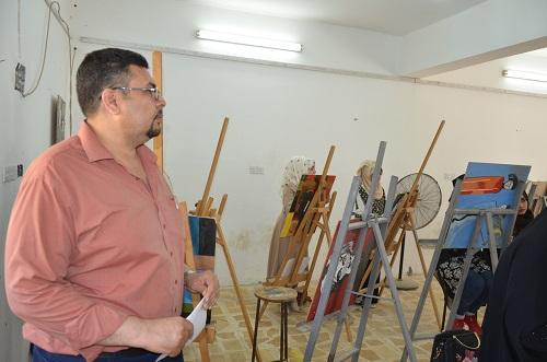 كلية الفنون الجميلة بجامعة القادسية تجري اختبارات للطلبة المتقدمين للقبول المباشر للعام الدراسي 2018-2019