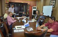 جامعة القادسية تبحث مع ممثل الاتحاد الاوربي في العراق انضمام الجامعة الى المؤسسة العالمية الاوربية لحماية الاثار