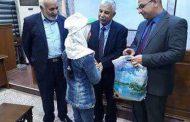 كلية الأثار في جامعة القادسية تحتفي  باطفال مؤسسة اليتم الخيرية