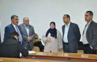 رئيس جامعة القادسية  يزور كلية الطب لتفقد سير الامتحانات النصف سنوية في الكلية