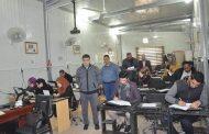 كلية الهندسة في جامعة القادسية تجري امتحان اللغة الانكليزية لطلبة الدراسات العليا / الماجستير (السنة التحضيرية )