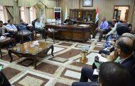 رئيس جامعة القادسية تبحث مع معاوني عمداء الكليات التوقيتات الخاصة بالبرنامج الحكومي