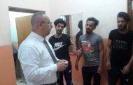 عميد كلية الاثار في جامعة القادسية يزور مبنى الاقسام الداخلية للاطلاع على اوضاع الطلبة