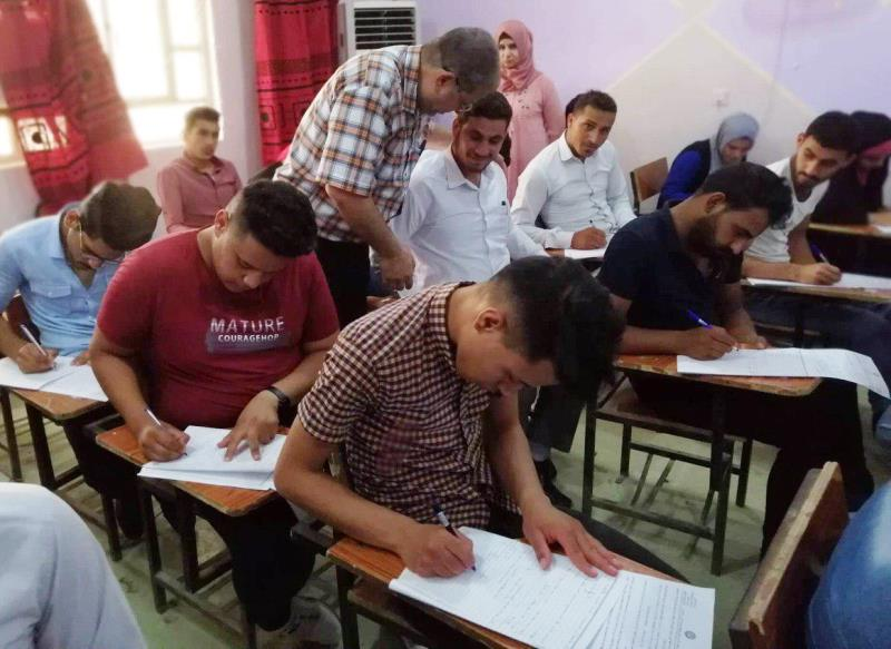 بدء الامتحانات النهائية للعام الدراسي 2018-2019 في كلية التربية بجامعة القادسية