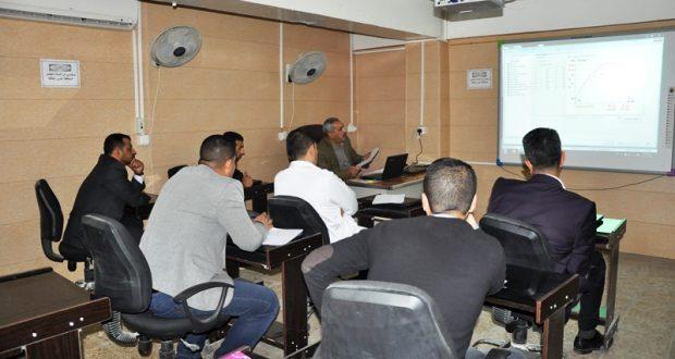 كلية الهندسة في جامعة القادسية تقيم دورة تعليمية حول جهاز الشد والانضغاط المبرمج