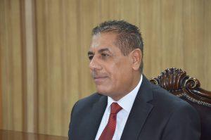 رئيس جامعة القادسية الاستاذ الدكتور كاظم جبر الجبوري يستقبل المهنئين من التدريسيين والموظفين بمناسبة حلول عيد الاضحى المبارك