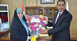 رئيس جامعة القادسية يتلقى التهاني من رئيس لجنة التربية في مجلس محافظة الديوانية