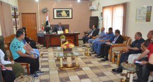 رئيس جامعة القادسية الاستاذ الدكتور كاظم جبر الجبوري يتفقد كلية الزراعة