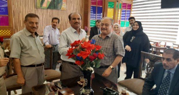 كلية التربية في جامعة القادسية تكرم ا.د عبد العزيز حيدر بمناسبة احالته على التقاعد