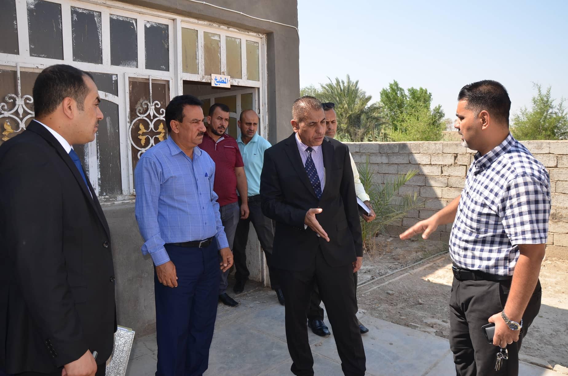 رئيس جامعة القادسية يتفقد دور  اسكان الطلبة والقسم الداخلي  ويشدد على ضرورة اعادة تاهيله