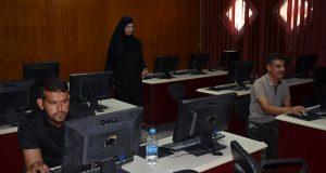 مركز الحاسبة الالكترونية في جامعة القادسية ينظم امتحانا الكترونيا لطلبة الدور الثاني