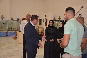 رئيس جامعة القادسية الاستاذ الدكتور كاظم جبر الجبوري يتفقد متحف الاثار والفنون ويدعو الى اعادة تأهيله