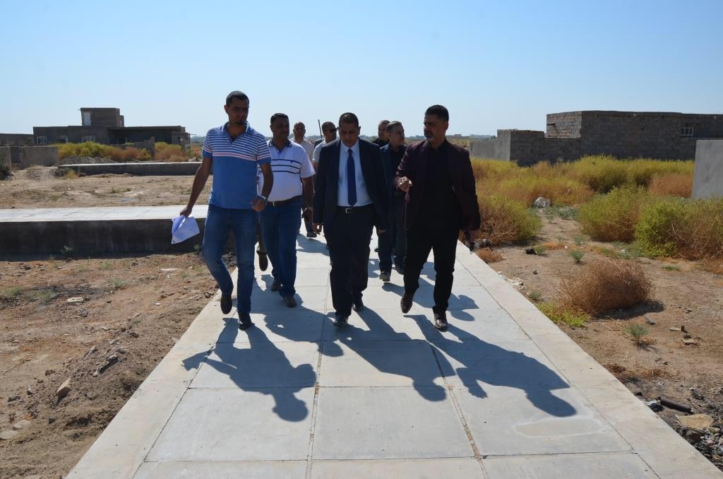 رئيس جامعة القادسية الاستاذ الدكتور كاظم جبر الجبوري يتفقد الدور السكنية التابعة الى قسم الاقسام الداخلية