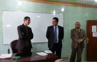السيد عميد كلية الاثار في قاعات الامتحانات