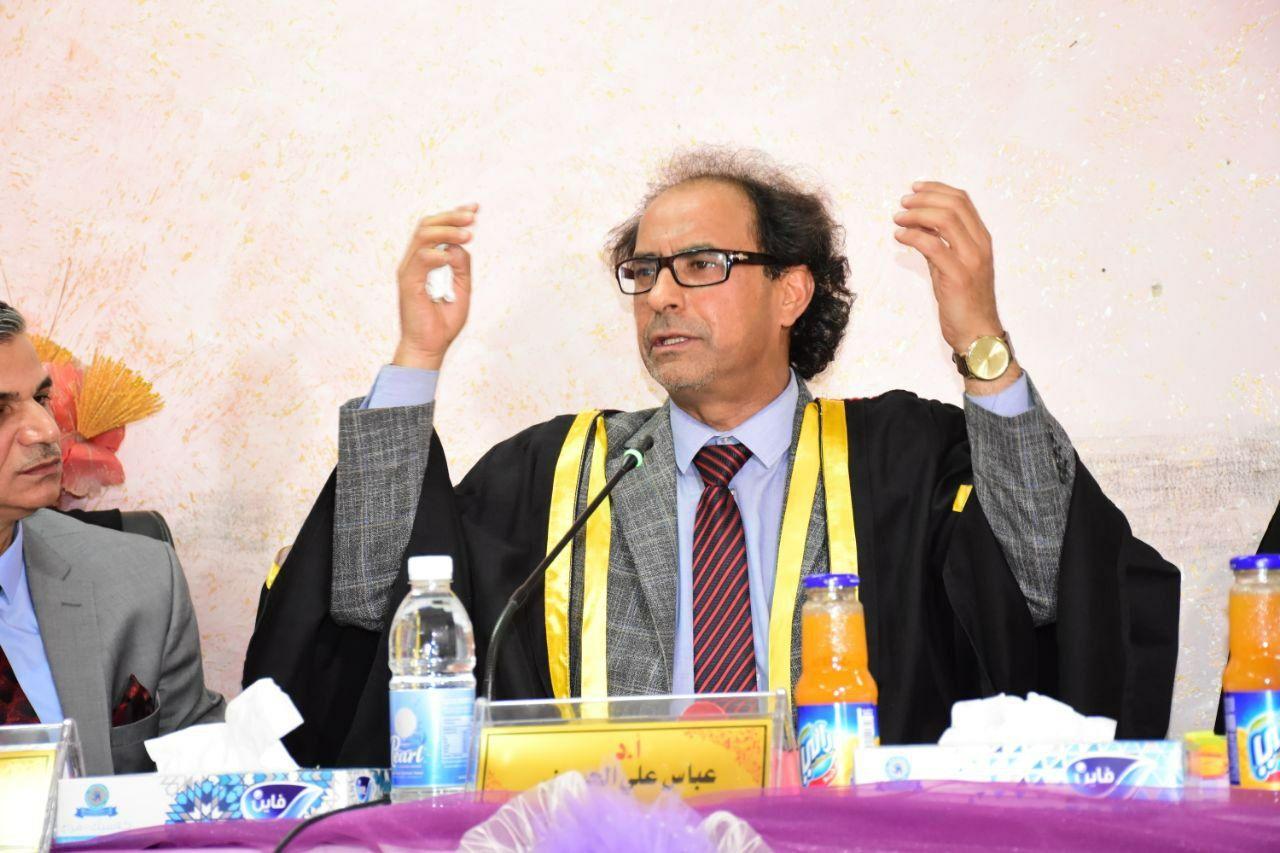 الاستاذ الدكتور عباس علي الحسيني عضوا مناقشا لاطوروحة دكتوراه