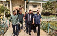 رئيس جامعة القادسية يتفقد سير امتحانات الدور الثاني في كلية التربية البدنية وعلوم الرياضة
