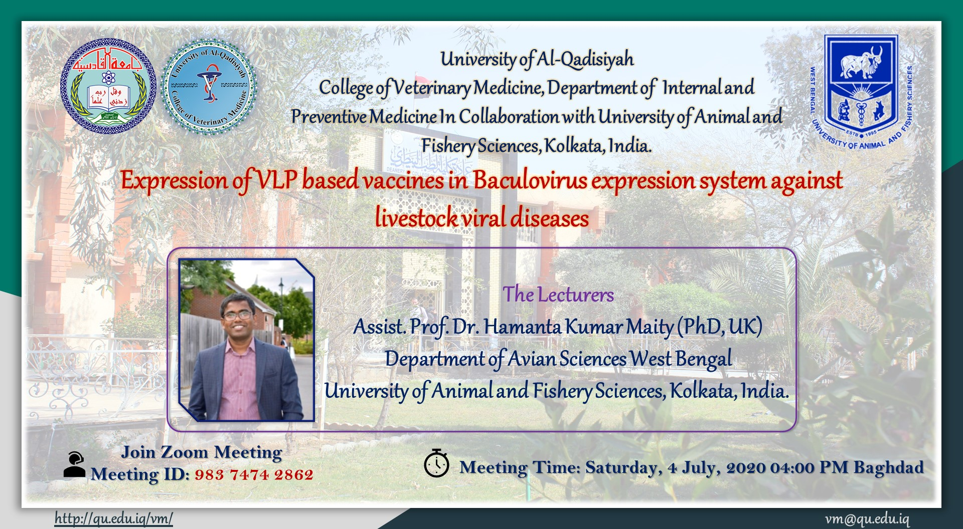 Expression of VLP based vaccines in Baculovirus expression system against livestock viral diseases