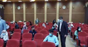 عميد كلية التربية في جامعة القادسية يتفقد القاعات الامتحانية الحضورية للدراسة الأولية
