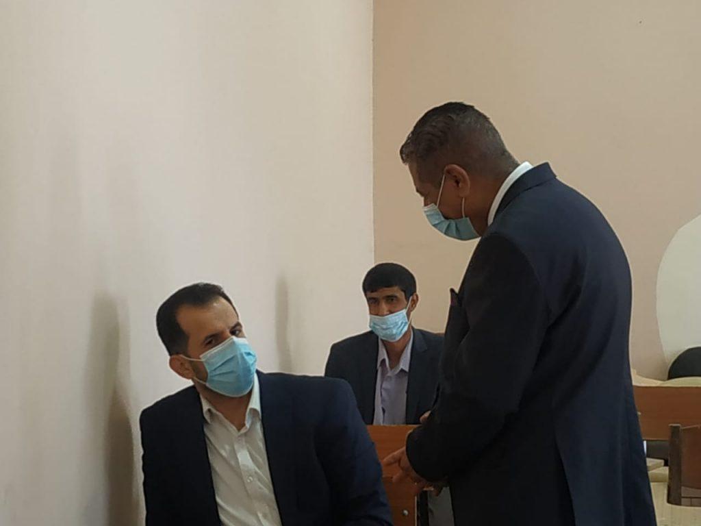 رئيس جامعة القادسية يتابع سير أمتحانات طلبة الدراسات العليا حضوريآ في كلية الادارة والاقتصاد