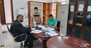 لجنة متابعة سير الامتحانات النهائية الحضورية في جامعة القادسية  تزور كلية التمريض