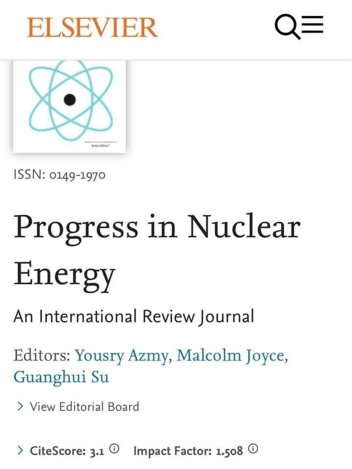 تدريسي في كلية الهندسة بجامعة القادسية ينشر بحثا علميا  عن التقدم في الطاقة النووية العالمية في إحدى المجلات العلمية الرصينة