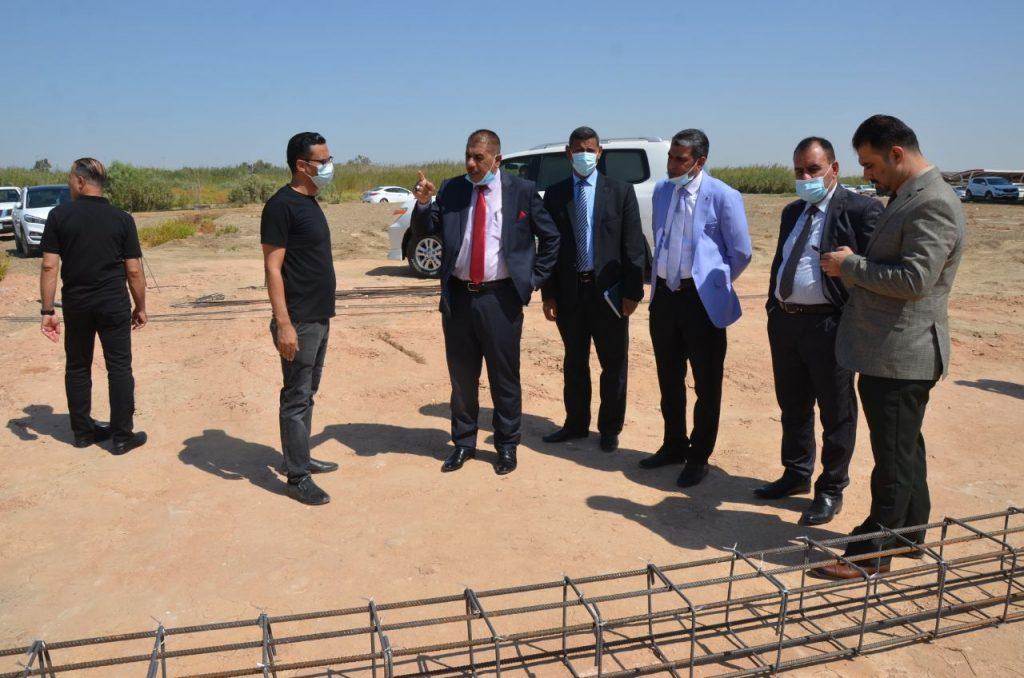 رئيس جامعة القادسية يتابع ميدانياً مراحل الاعمار والبناء في رحاب كلية الاداب