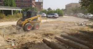 كلية الصيدلة بجامعة القادسية تنفذ حملة تطوعية كبيرة لإزالة القصب والحشائش اليابسة .